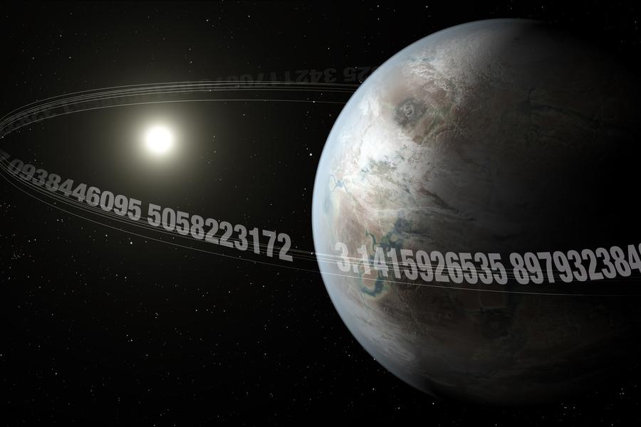 Planet Pi yang seukuran Bumi. Kredit: NASA Ames/JPL-Caltech/T. Pyle, Christine Daniloff, MIT