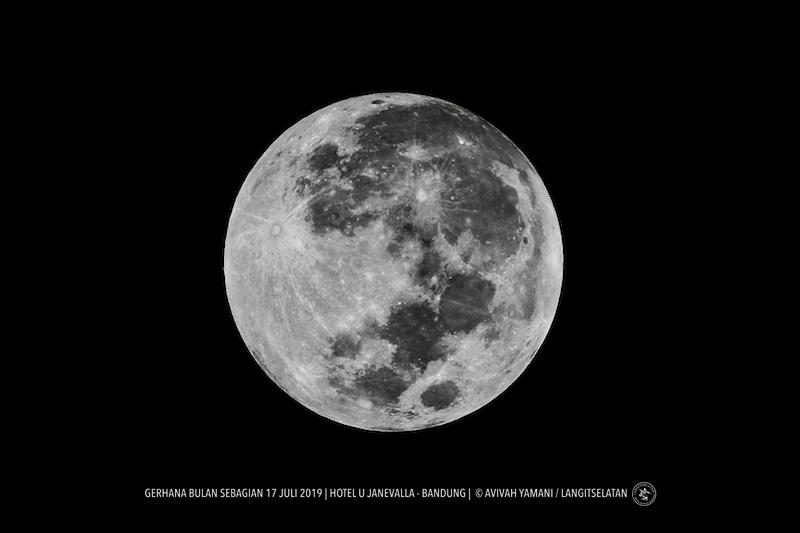 Bulan Purnama 17 Juli 2019. Kredit: Avivah Yamani/langitselatan