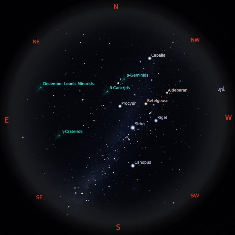 Peta Bintang 15 Januari 2021 pukul 23:59 WIB. Kredit: Stellarium
