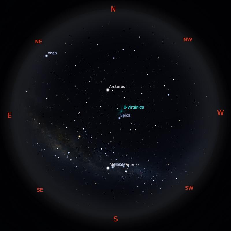 Peta Bintang 15 April 2021 pukul 23:59 WIB. Kredit: Stellarium