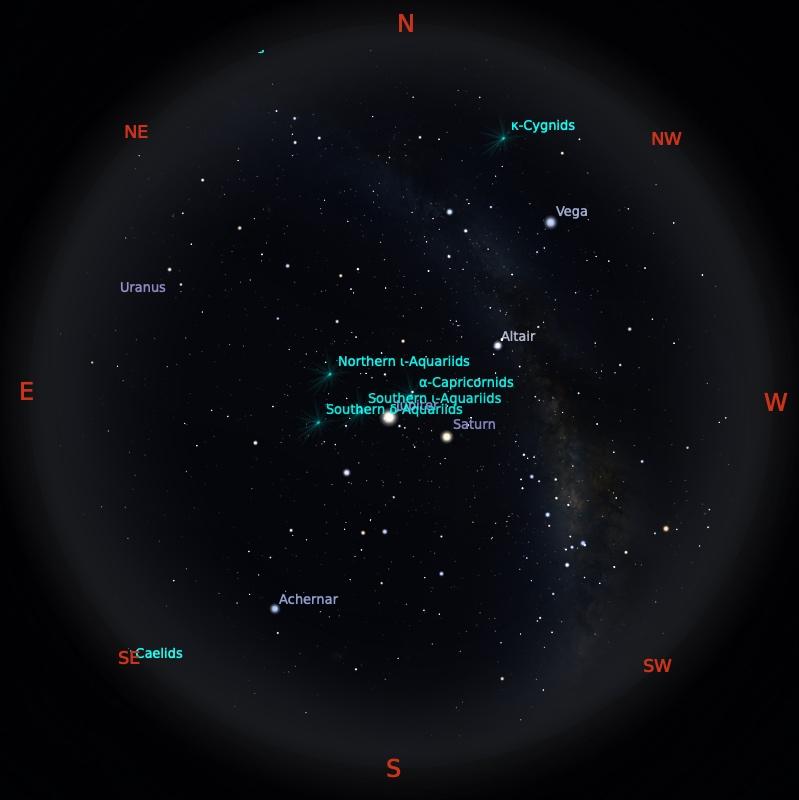 Peta Bintang 15 Agustus 2021 pukul 23:59 WIB. Kredit: Stellarium