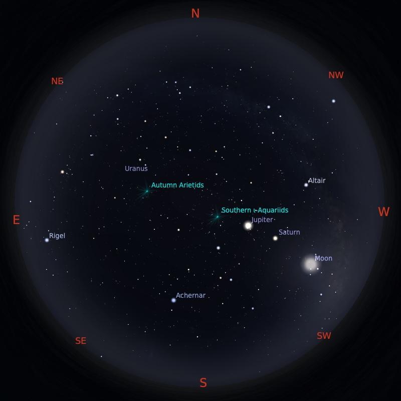 Peta Bintang 15 September 2021 pukul 23:59 WIB. Kredit: Stellarium