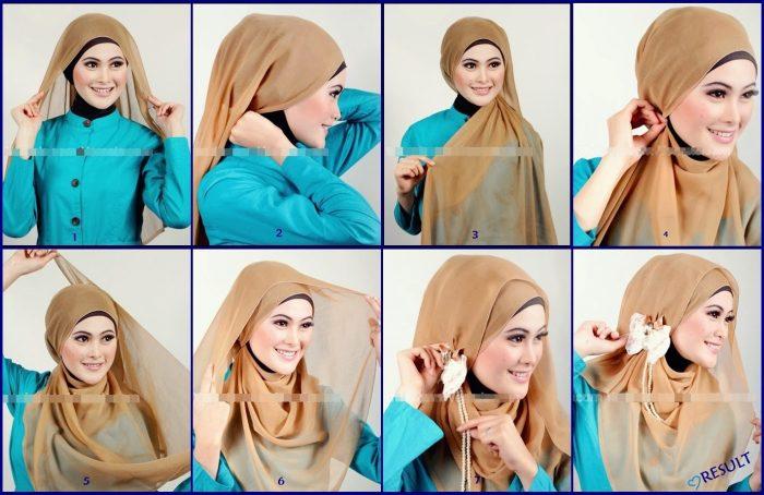 Model Hijab Terbaru Segi Empat - langkung.com