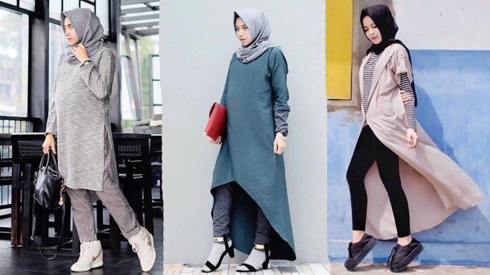 model baju hijab modern simpel terbaru