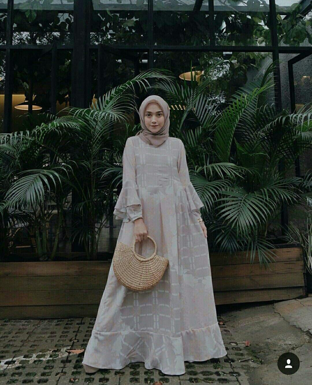 baju kondangan simple hijab dengan dress cantik