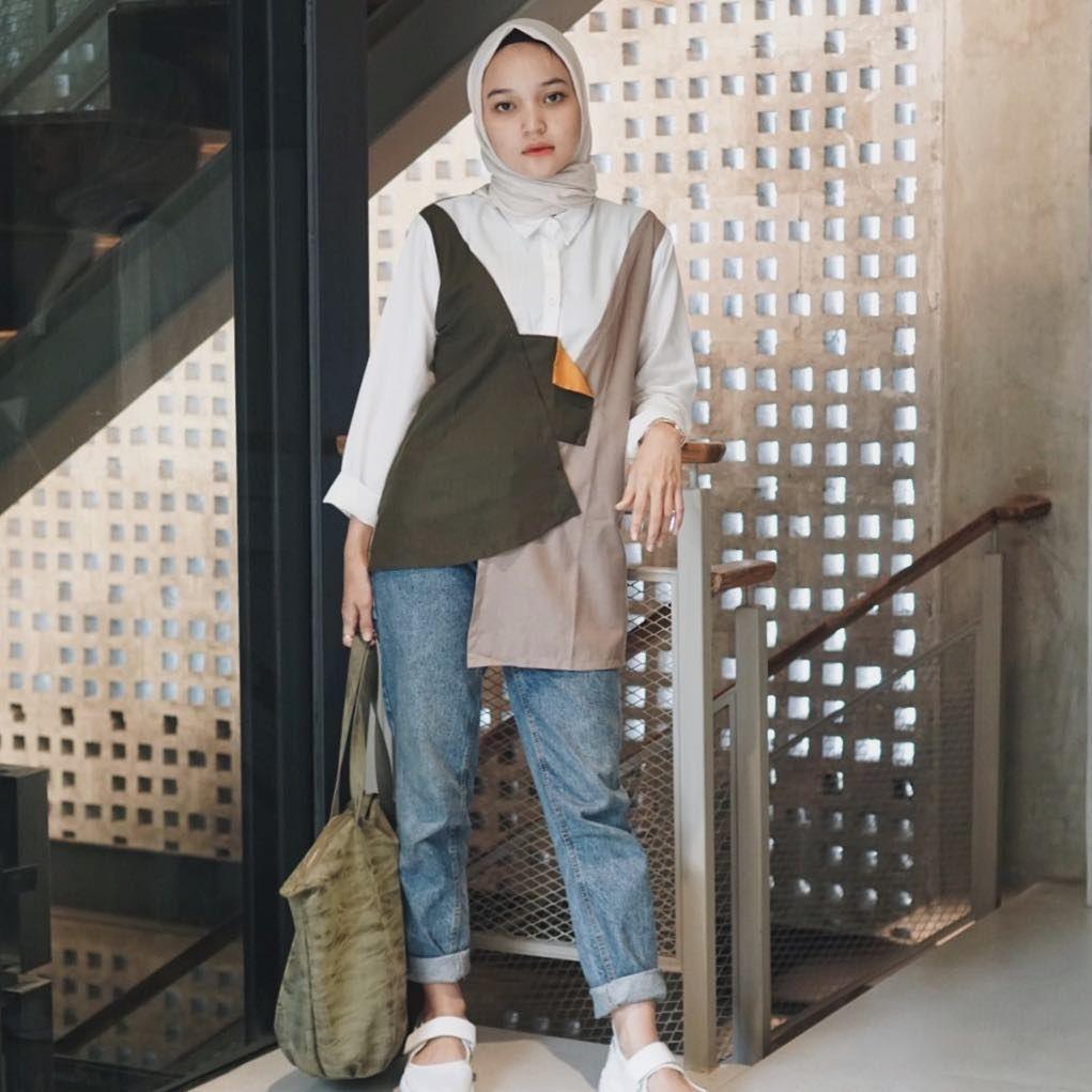 baju setelan celana hijab yang stylish
