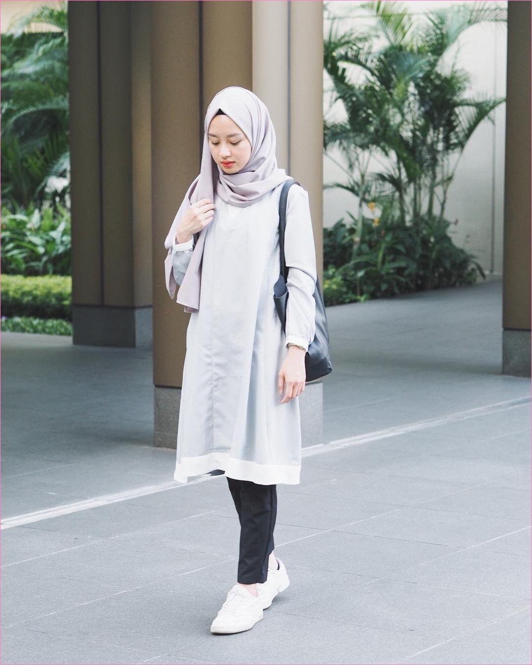 baju setelan celana hijab yang trendi