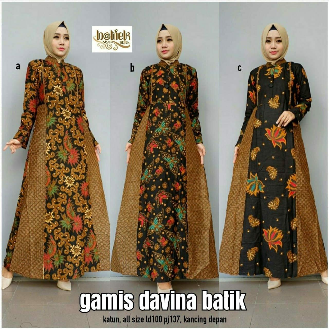 Batik kombinasi renda