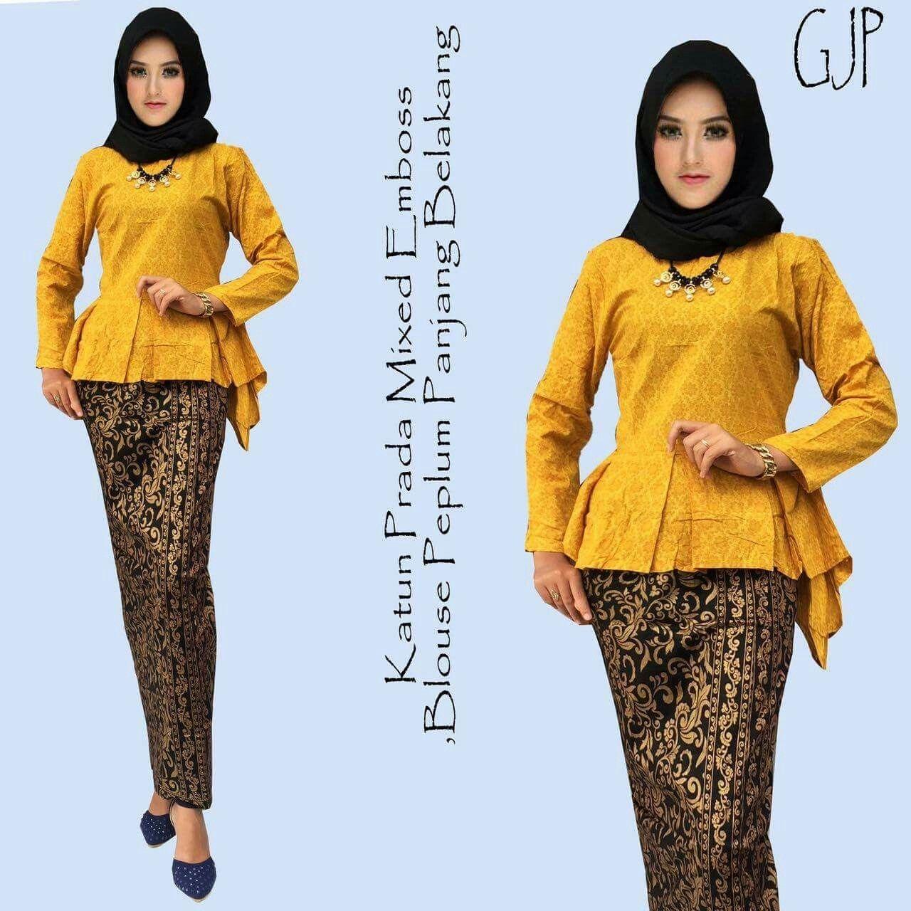 Blus batik kuning