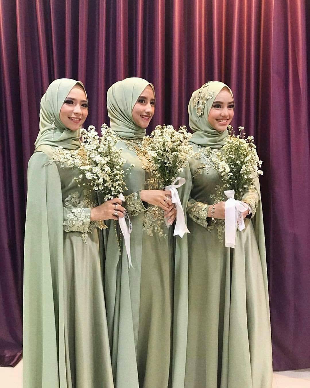 Bridesmaid hijau