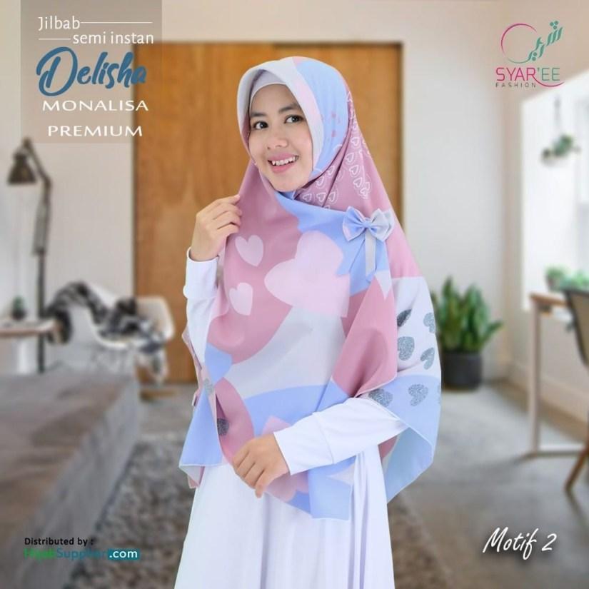 Hijab syar'i tutorial dengan hijab motif