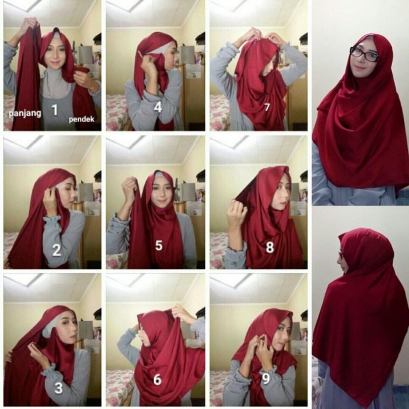 Hijab syar'i tutorial untuk pesta
