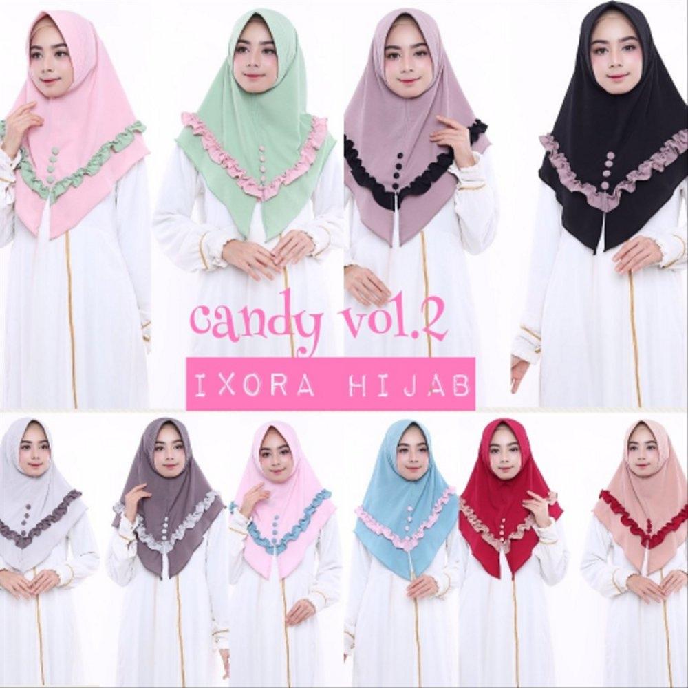 model hijab kerudung fashion jilbab instan candy terbaru