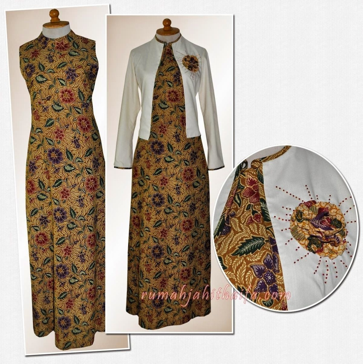 ❤️ Kumpulan Model Gamis Batik Kombinasi Satin Yang Wajib Anda