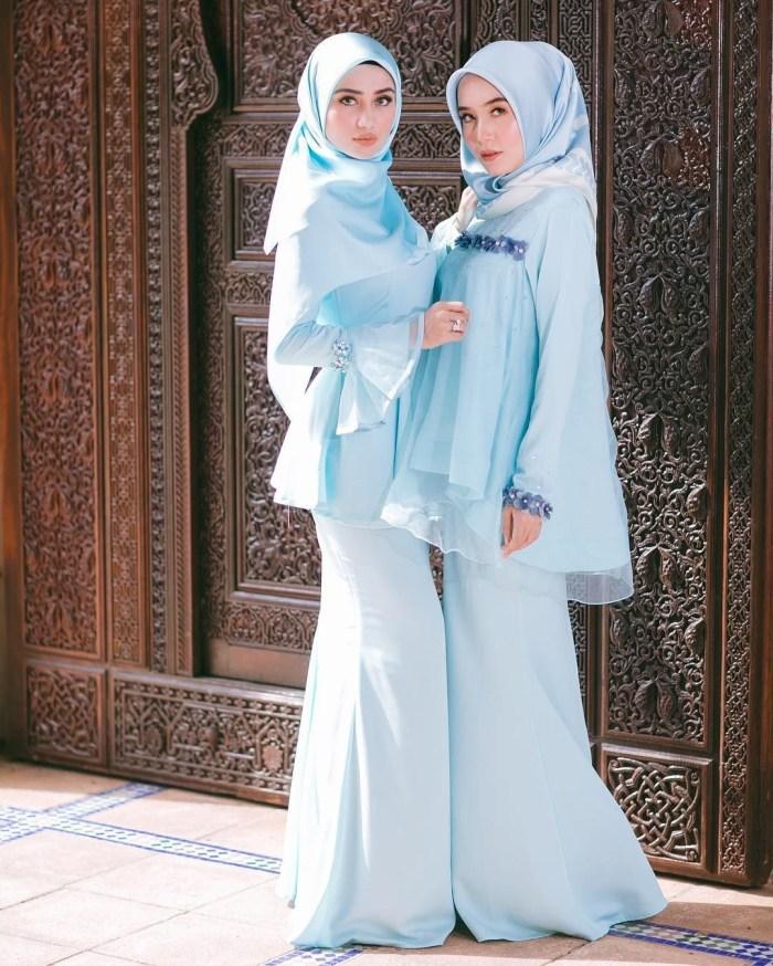 Seragam bridesmaid biru muda