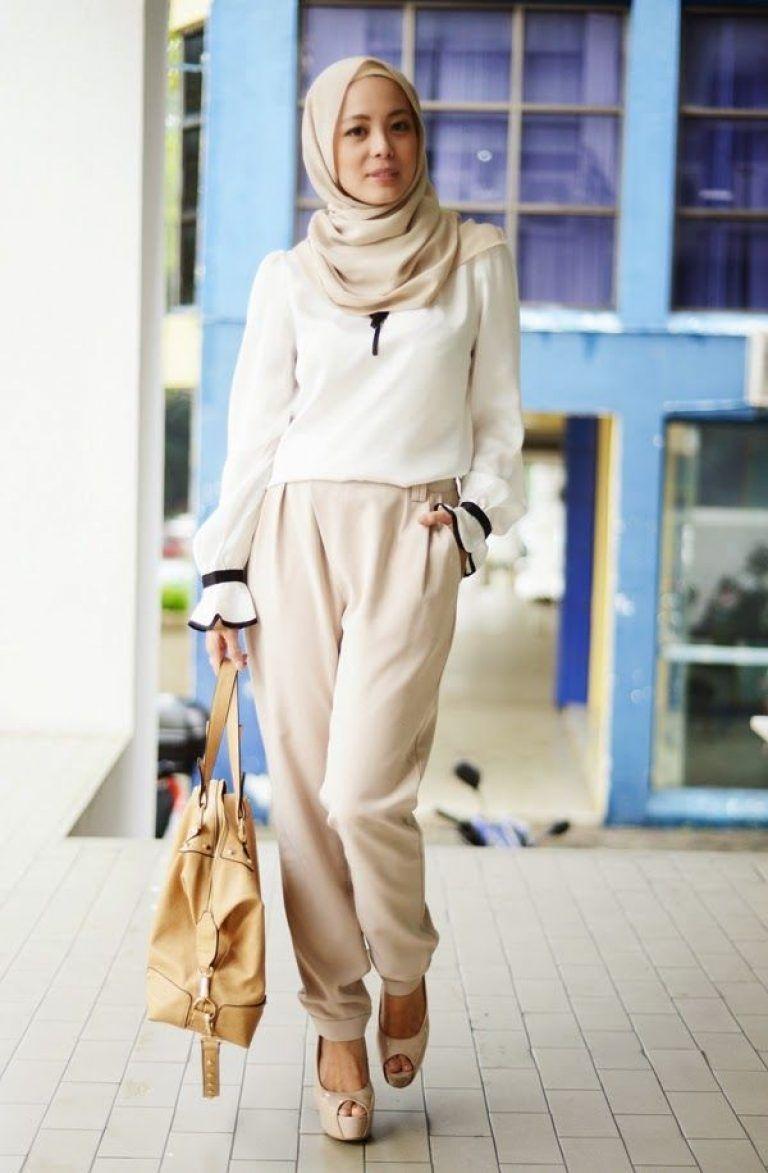 Style baju hijab simple untuk kuliah