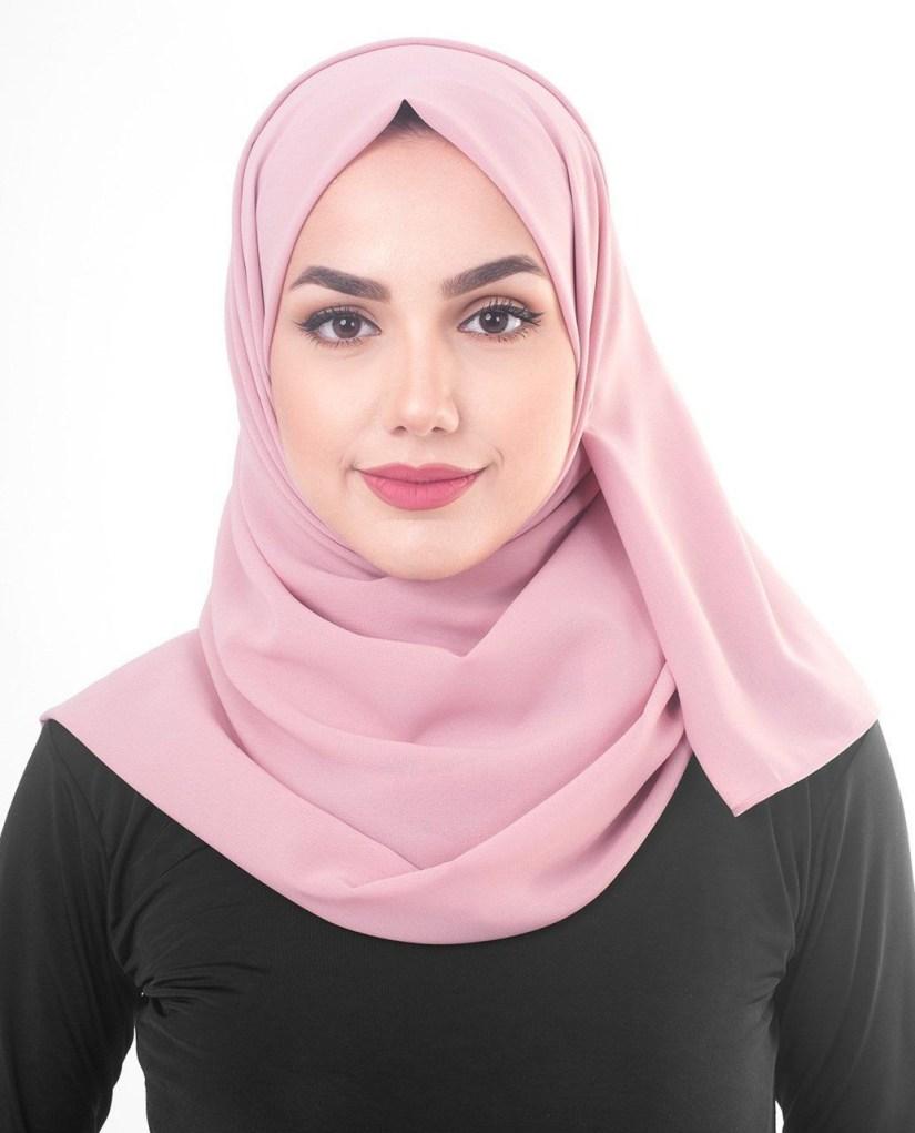 tutorial hijab pashmina satin untuk acara formal
