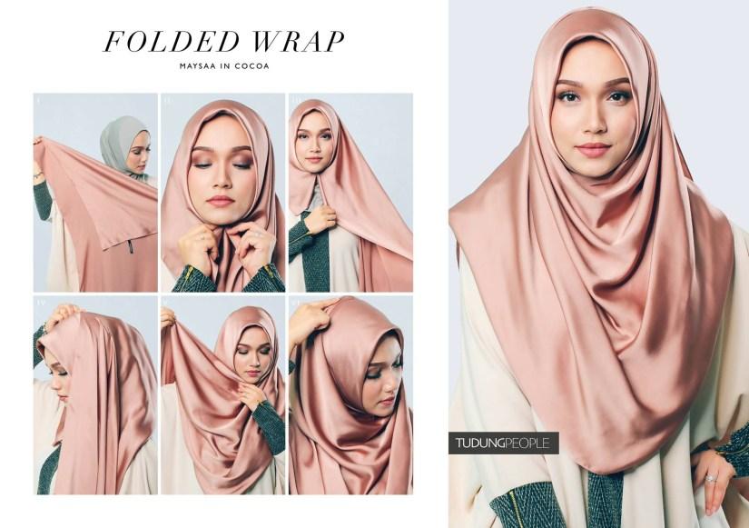 tutorial hijab pashmina satin yang syari