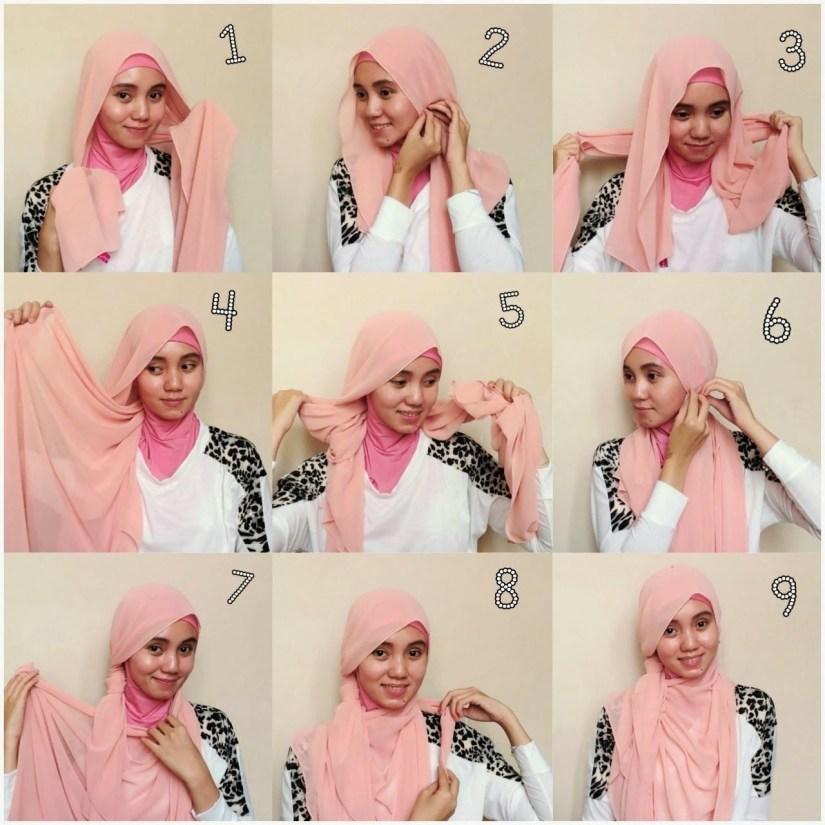 Tutorial hijab pashmina simple yang chic