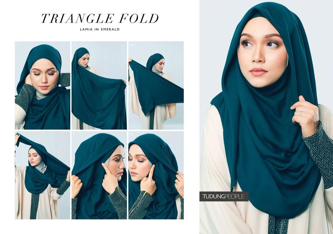 Tutorial hijab pashmina simple yang cocok untuk pesta