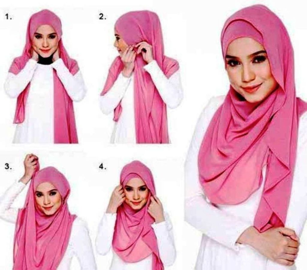 tutorial hijab pashmina simple yang trendi