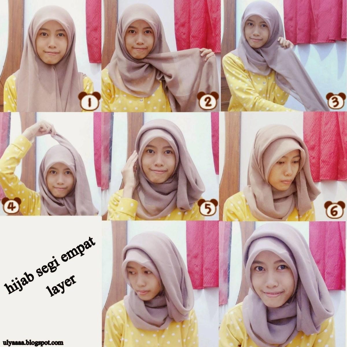 tutorial hijab segi empat velvet
