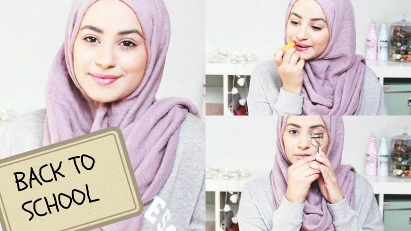 Tutorial make up natural hijab yang simple
