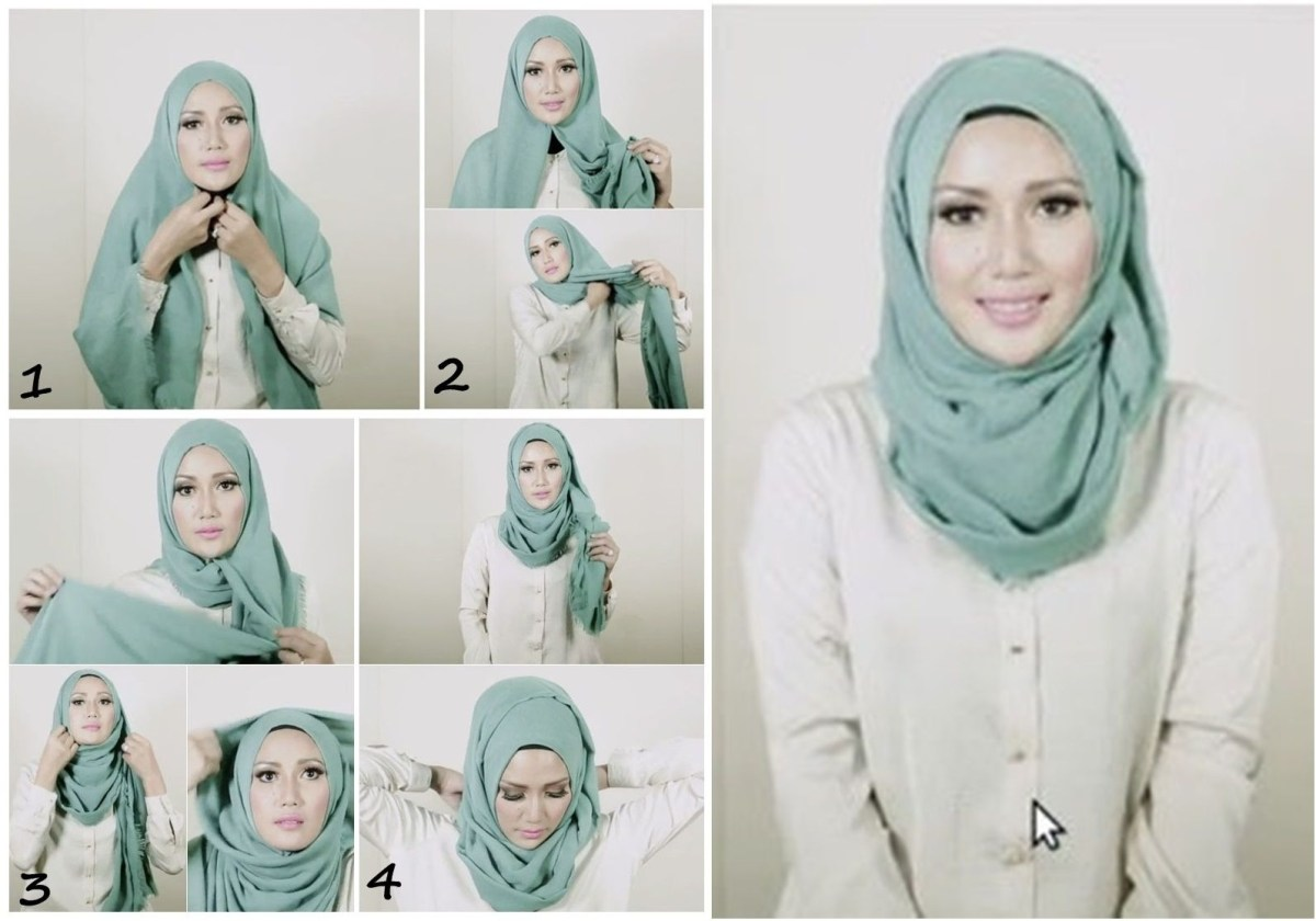 Tutorial pashmina hijab simple ala Turki