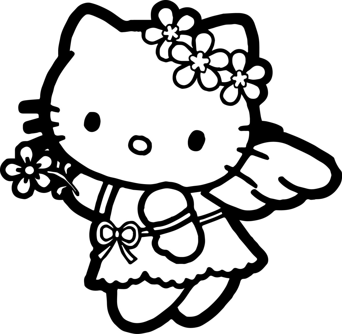 hello kitty coloring page wecoloringpage kitty coloring