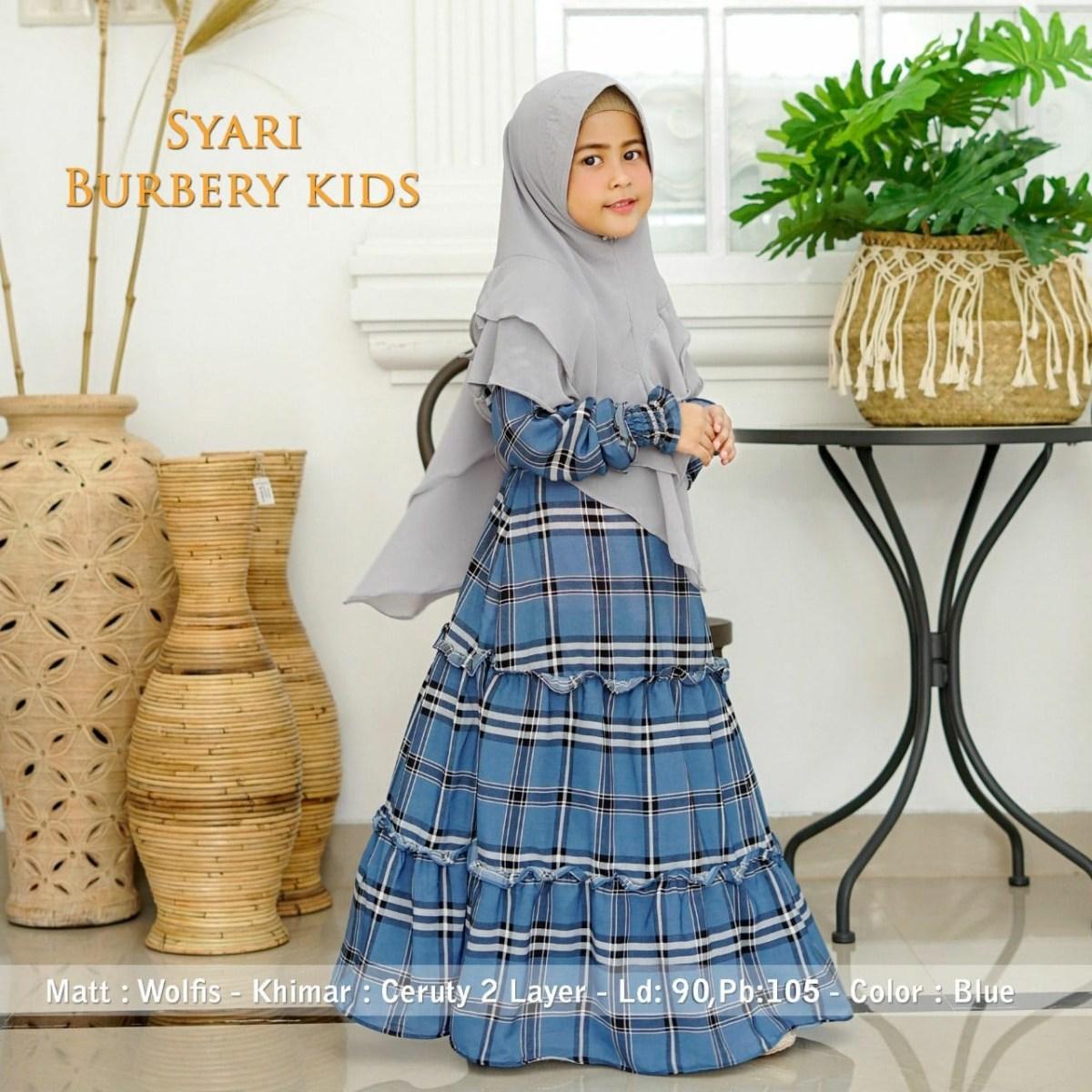 baju gamis syari anak trendy burbery katalog bajugamismu