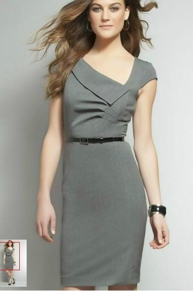 2021 2012 summer women office lady v neck slim dress