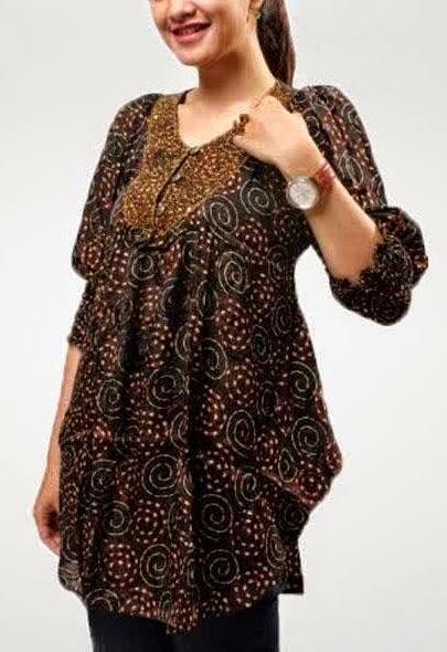 baju batik kerja wanita model terbaru paling dicari