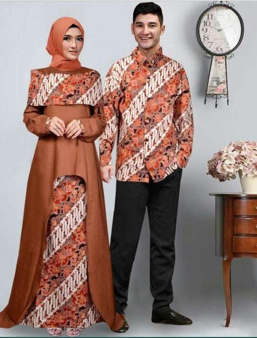 baju muslim kombinasi batik terbaru ragam muslim