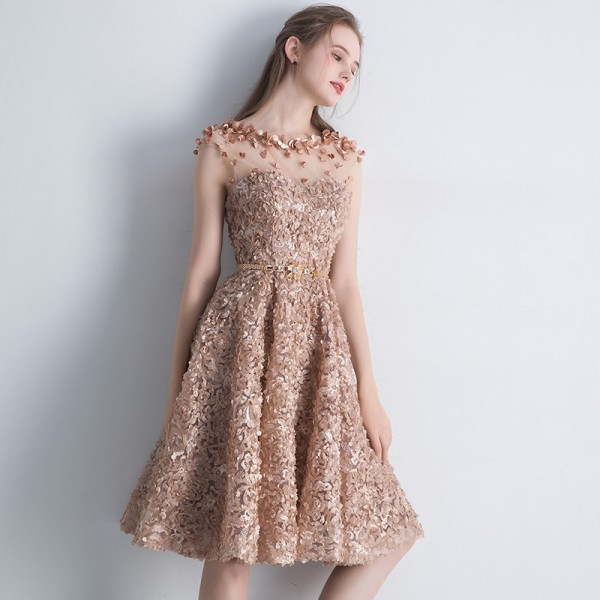 buy new elegant lace evening dress bride banquet simple