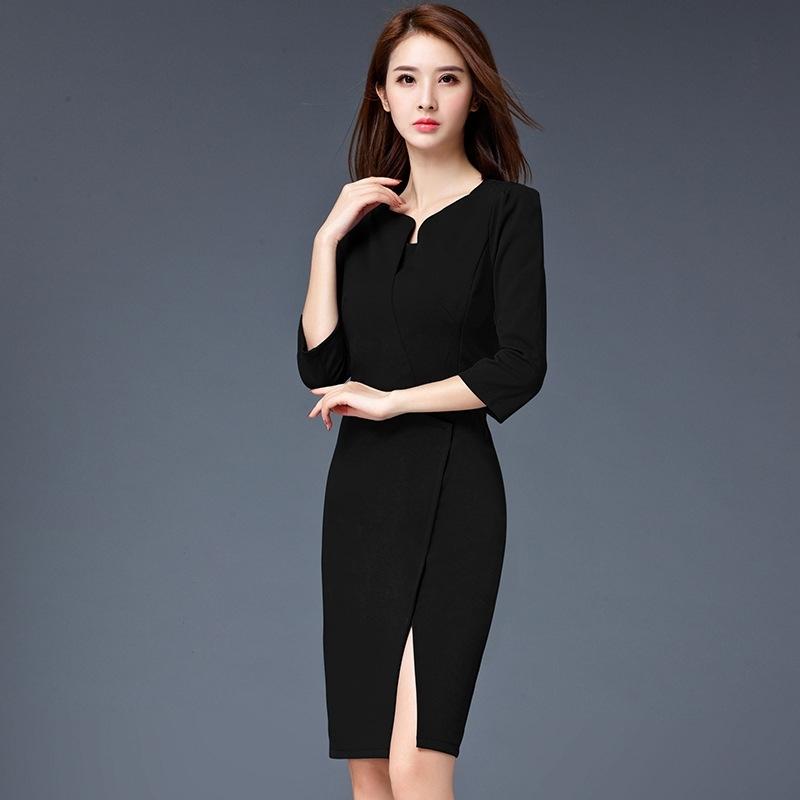 formal split business office work uniform dress tianex