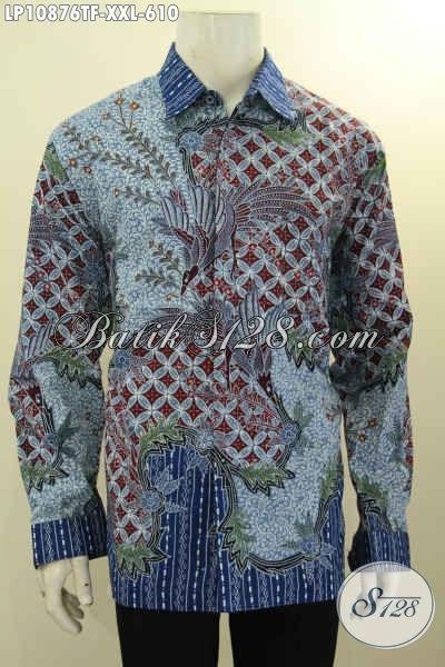 hem batik model lengan panjang pria eksekutif baju batik