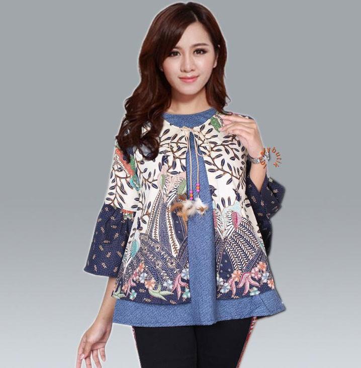 inspirasi model baju kerja terbaru batik modern 2020