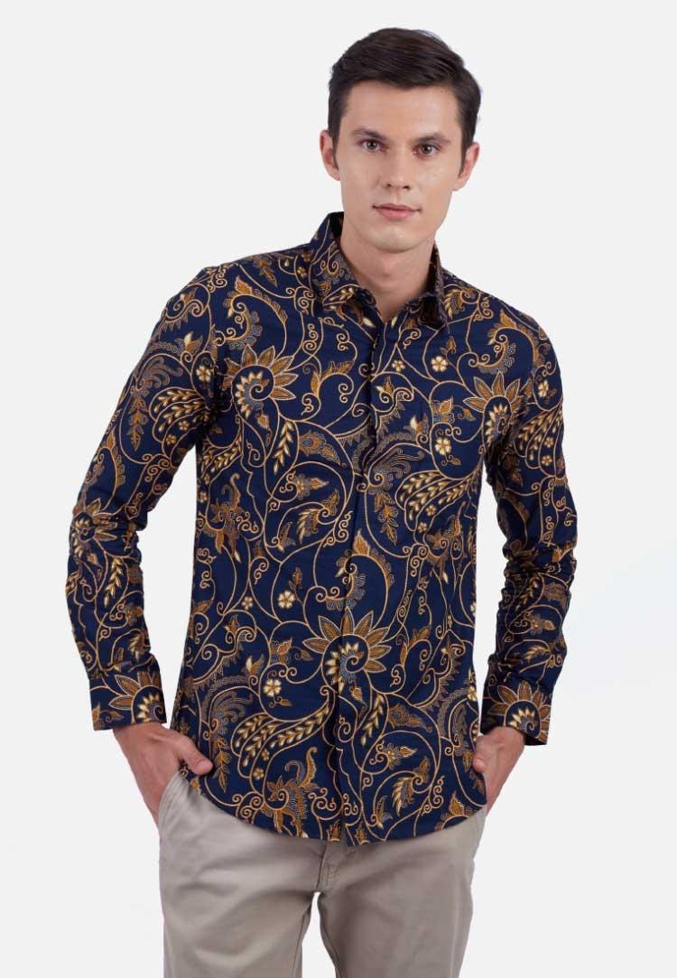 konsep 43 model batik anak cowok kombinasi motif minimalis