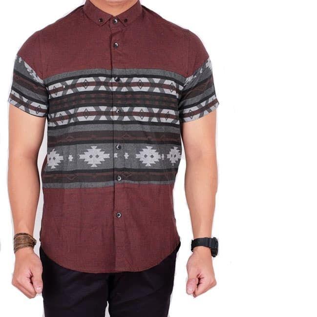 kumpulan model baju batik pria modern polos kombinasi