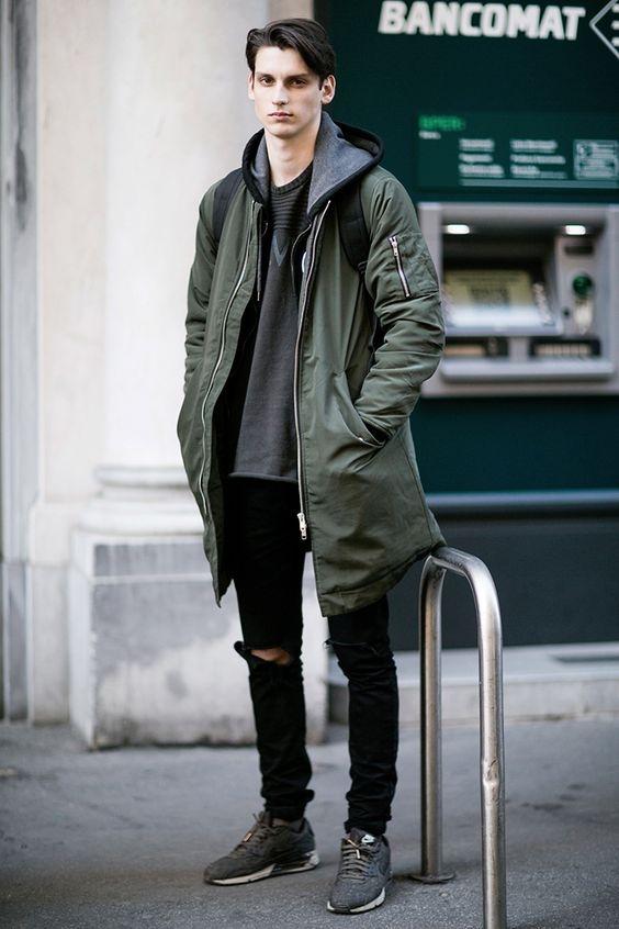 macho moda blog de moda masculina jaqueta verde militar