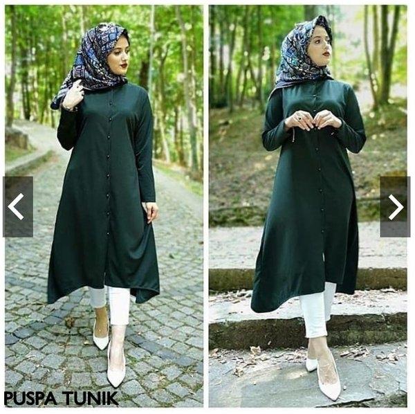model baju atasan hijab kekinian 2019 atasan dress gamis