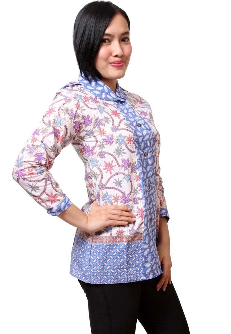model baju batik kantor modis dan elegan