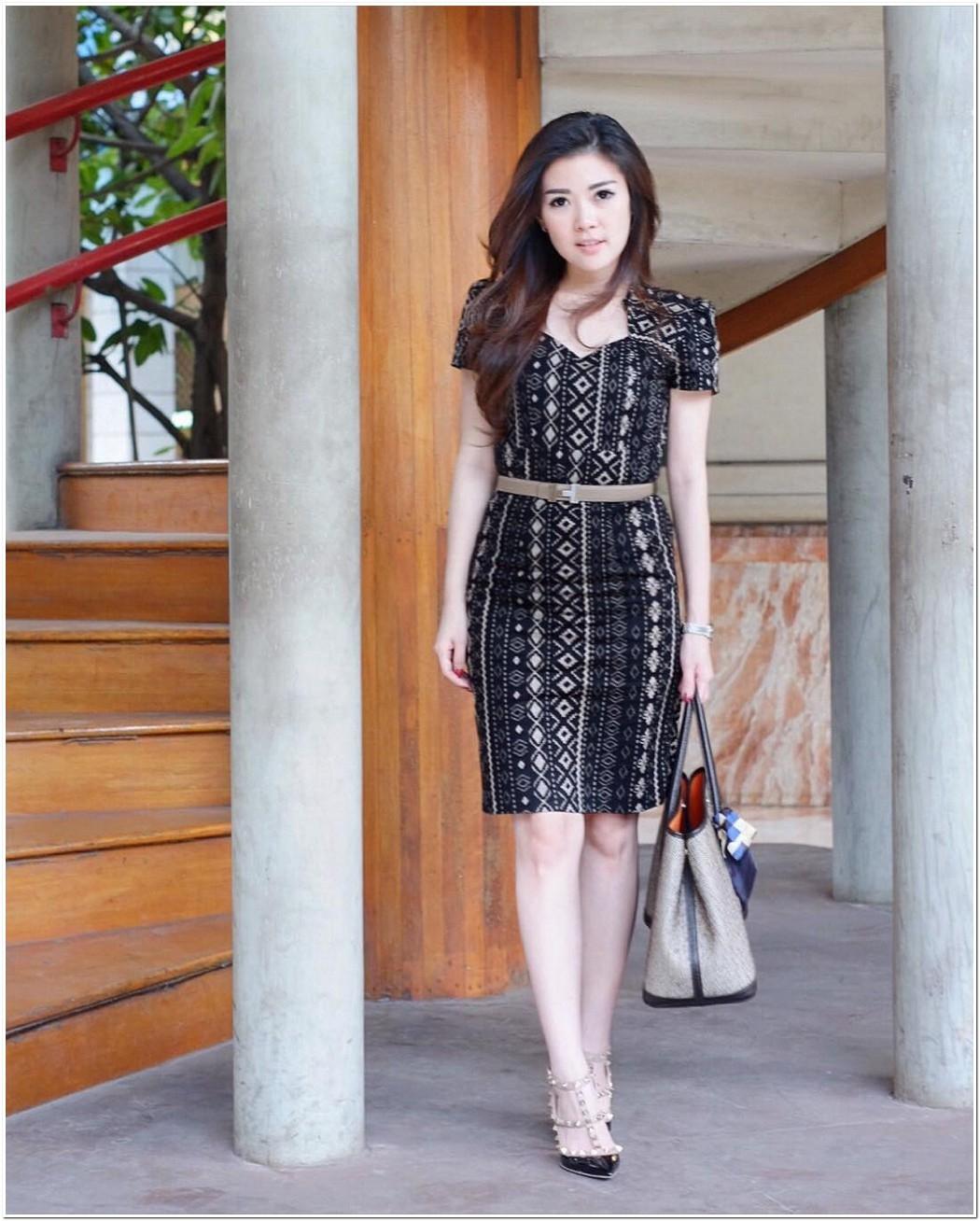 model baju batik modern dress idaman wanita masa kini