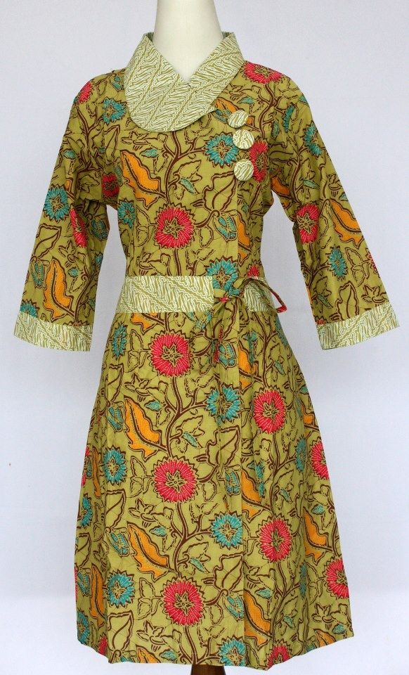 model baju batik modern wanita bintangbatik
