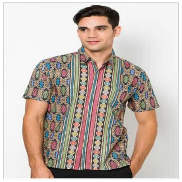 model baju batik terbaru muslim pria wanita atasan untuk
