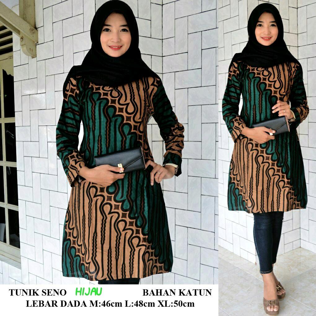 model baju batik tunik atasan baju batik tunik wanita