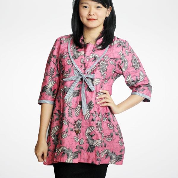 model baju batik wanita untuk kerja idemodelbusana 1