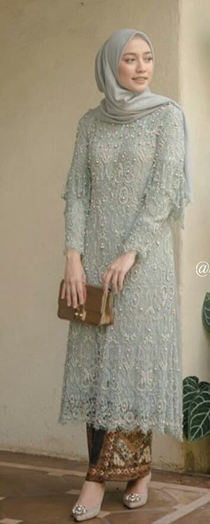 model baju kondangan dress brokat hijab pin ira 1