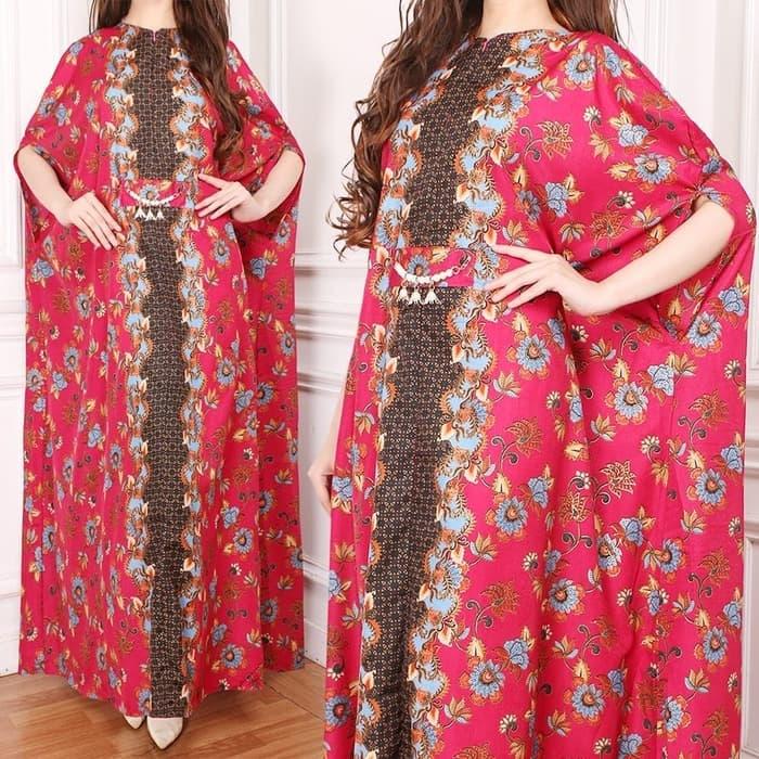 model baju long dress kaftan motif batik terbaru ryn fashion