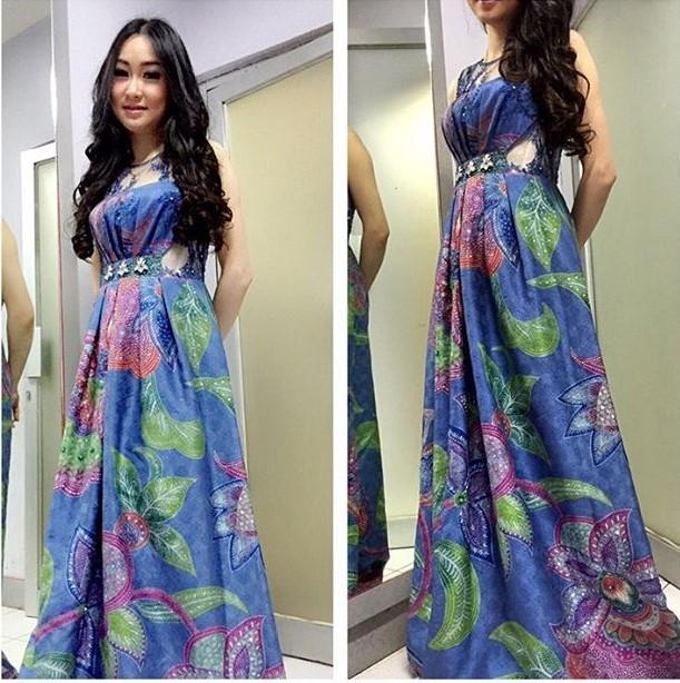 model dress panjang batik elegan